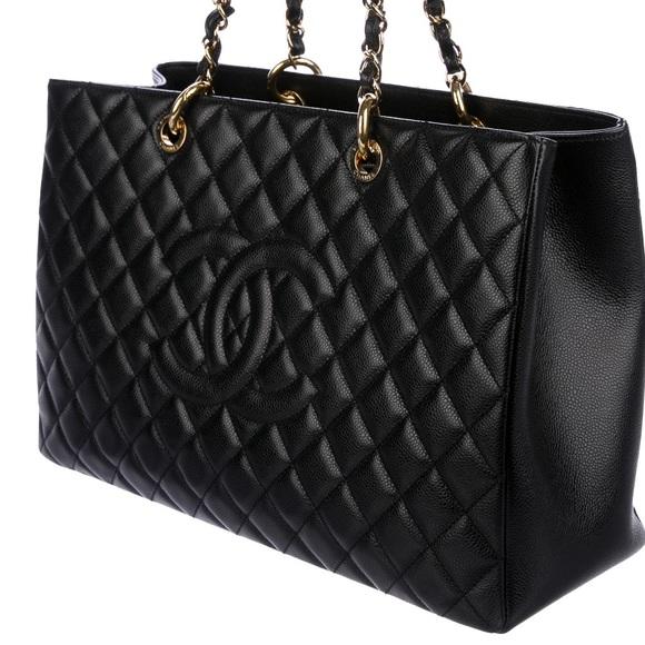7080b199cf5c CHANEL Bags | Black Quilted Caviar Leather Xlnotrades | Poshmark